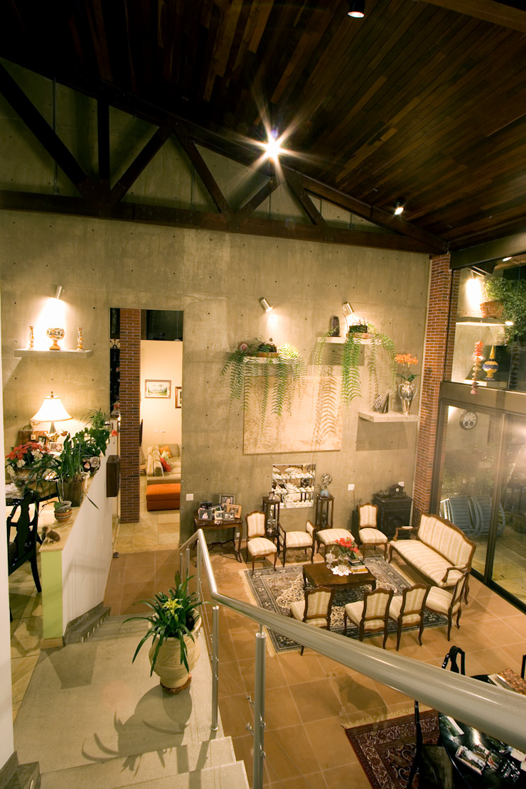 Rustic style corridor, hallway & stairs by Central de Projetos Rustic