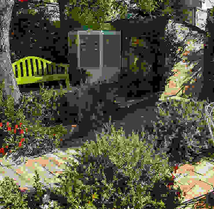 Jardines de estilo  por Giardini Giordani, Moderno Plástico