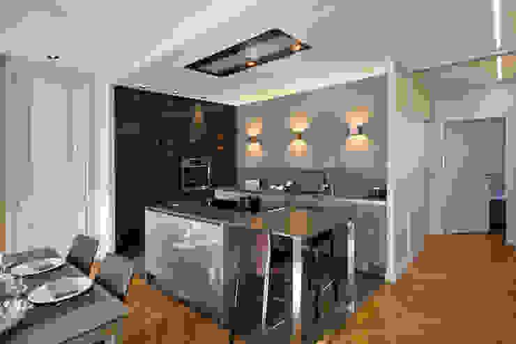Appartement Lyon 06 Cuisine moderne par Tymeno Moderne
