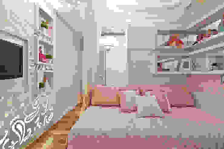 Quarto Menina Quarto infantil moderno por Heller Arquitetura e Interiores Moderno