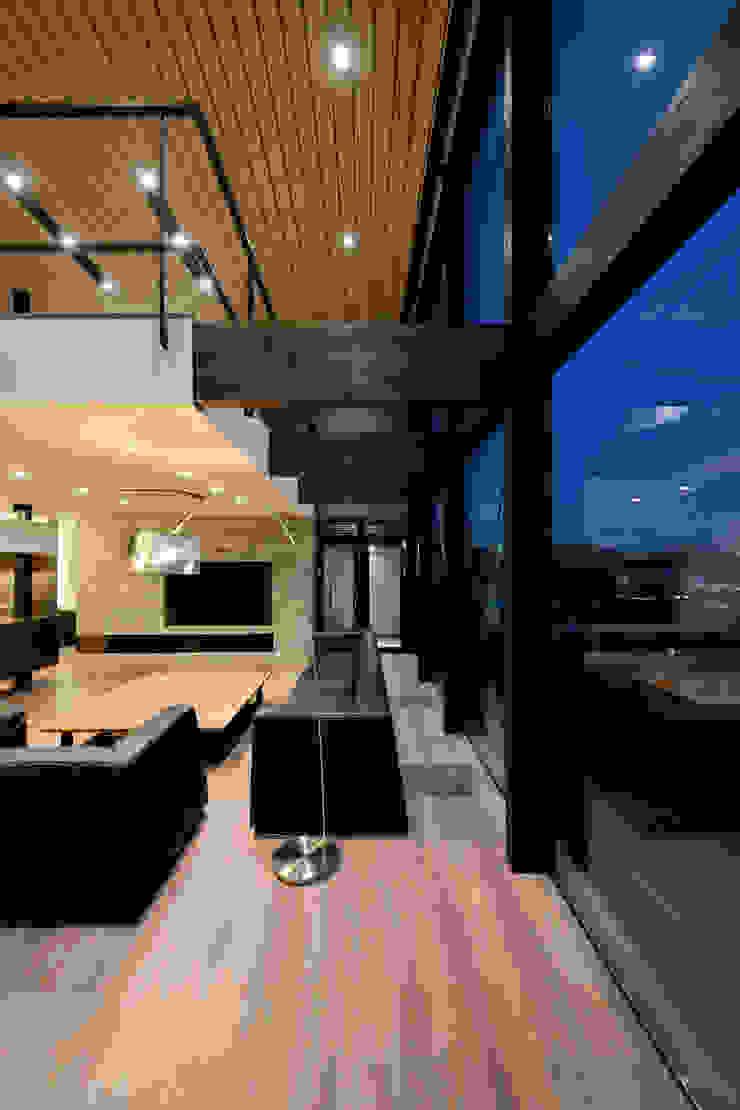 株式会社 Atelier-D Living room Stone Brown