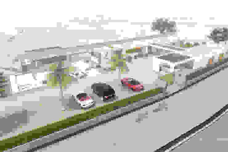Visualización aérea Casas de estilo minimalista de Ar4 Arquitectos Minimalista
