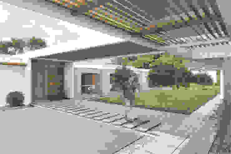 Acceso privado Casas de estilo minimalista de Ar4 Arquitectos Minimalista