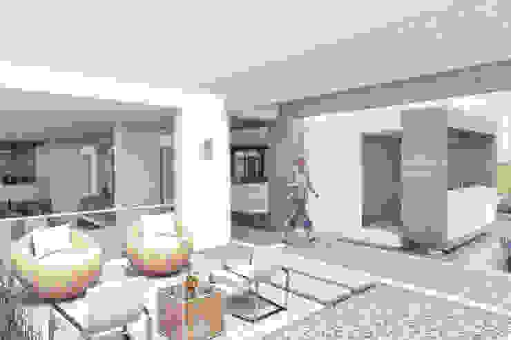 Sala de estar exterior Casas de estilo minimalista de Ar4 Arquitectos Minimalista