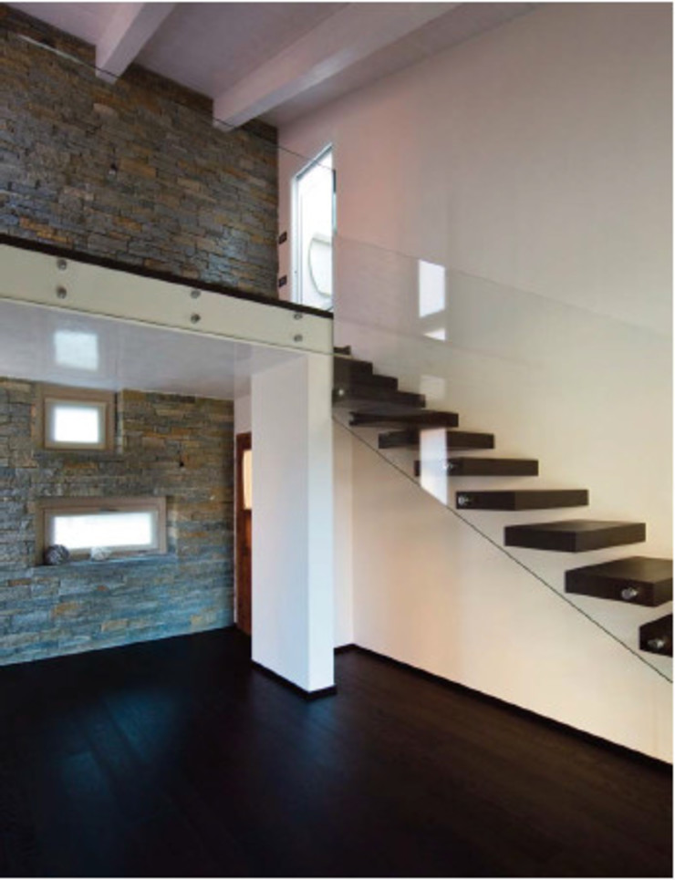 Progetto Ingresso, Corridoio & Scale in stile moderno di architetto michela lombardoni Moderno