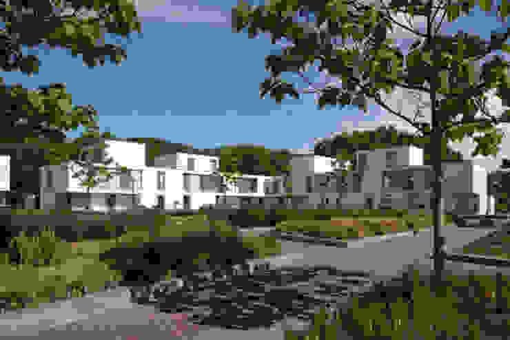 bospatio's Moderne huizen van JMW architecten Modern Stenen