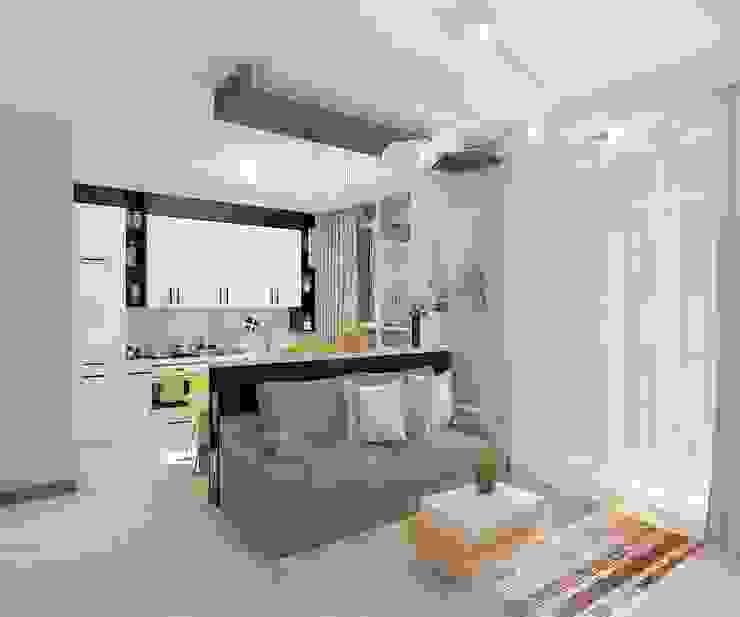Salas de estilo minimalista de Дизайн студия Марины Геба Minimalista