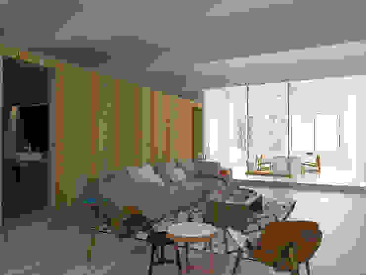 Scandinavian style living room by ESTUDIO BAO ARQUITECTURA Scandinavian