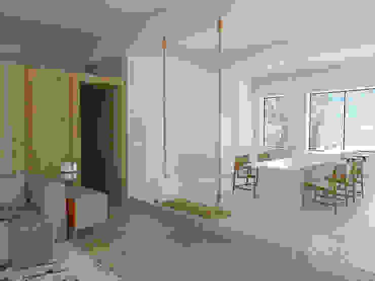 Scandinavian style dining room by ESTUDIO BAO ARQUITECTURA Scandinavian