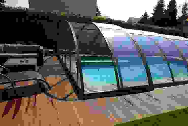 Foliebecken grau-hellgrau+ FKB Schwimmbadtechnik Modern Havuz