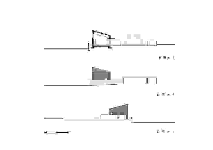Woogae Memorial 우계기념관: ADMOBE Architect의 미니멀리스트 ,미니멀