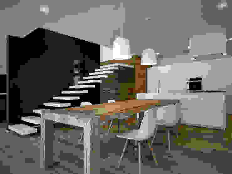 Progetto Modern dining room by EV+A Lab Atelier d'Architettura & Interior Design Modern