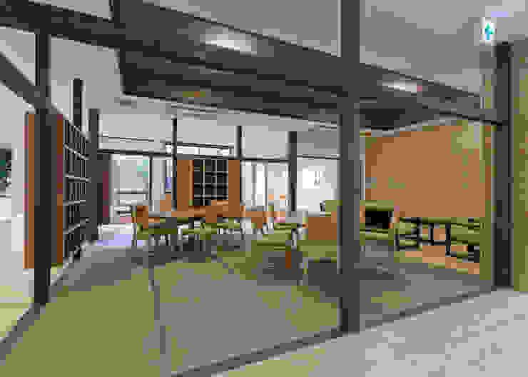 デイルーム アジア風医療機関 の 宮田建築設計室 和風
