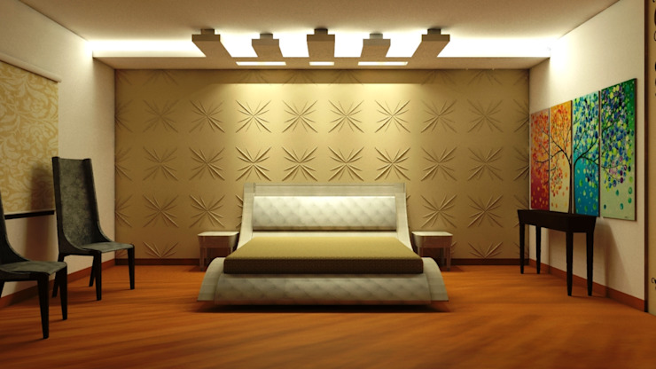 Residence : Ranjit Avenue Modern style bedroom by TULI ARCHITECTS AND ENGINEERS Modern Wood-Plastic Composite