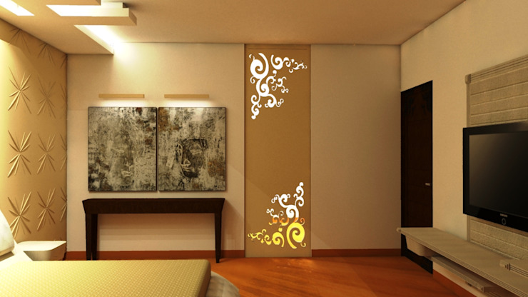 Residence : Ranjit Avenue Modern style bedroom by TULI ARCHITECTS AND ENGINEERS Modern MDF
