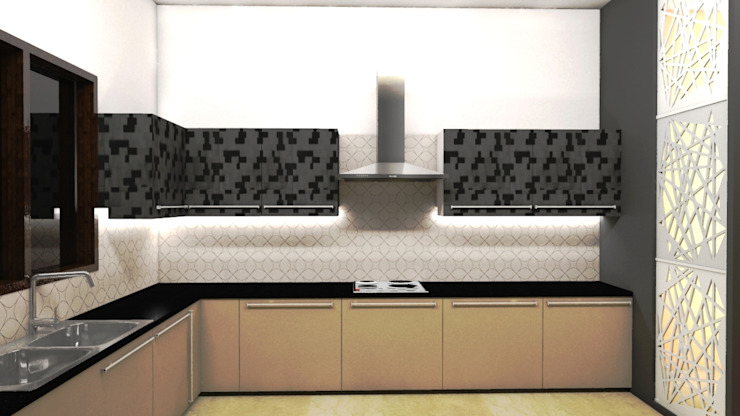 TULI ARCHITECTS AND ENGINEERS Modern style kitchen Wood Black