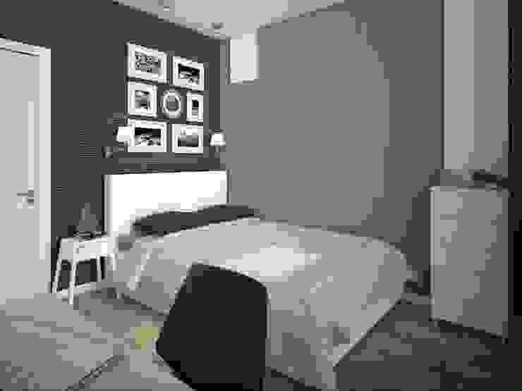 интерьер квартиры в ЖК Ньютон Спальня в стиле минимализм от Студия дизайна интерьера Designer-PRO Минимализм