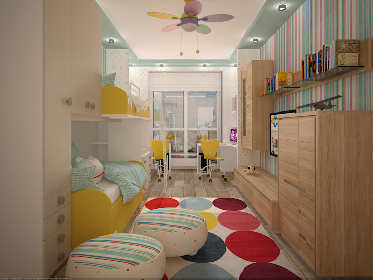 Minimalistische Kinderzimmer von Студия дизайна интерьера Designer-PRO Minimalistisch