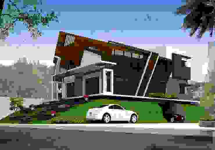 Ramchandra's villa at Bidadi Asian style houses by SAHHA architecture & interiors Asian