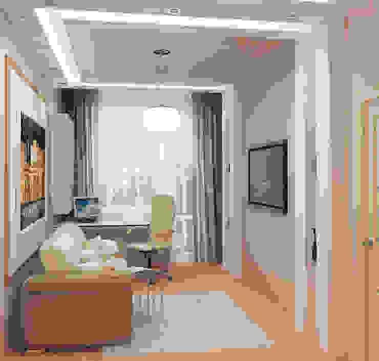 Oficinas y bibliotecas de estilo moderno de Студия дизайна Interior Design IDEAS Moderno
