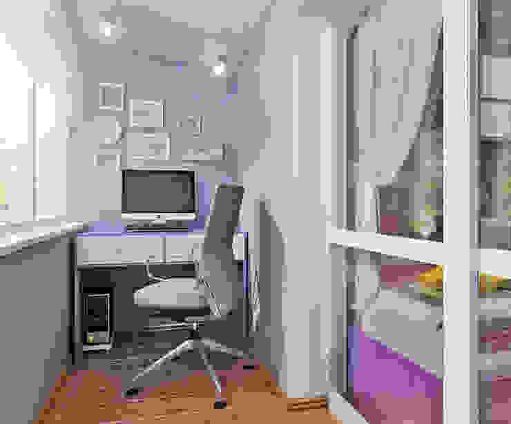 Кабинет в маленькой квартире - три интересные идеи Рабочий кабинет в стиле модерн от Студия дизайна Interior Design IDEAS Модерн