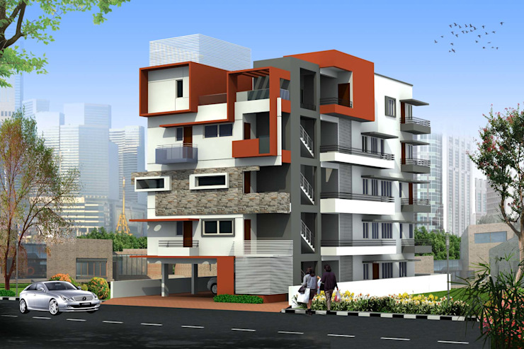 Kailka apartment near Karle, Bengaluru Asian style houses by SAHHA architecture & interiors Asian
