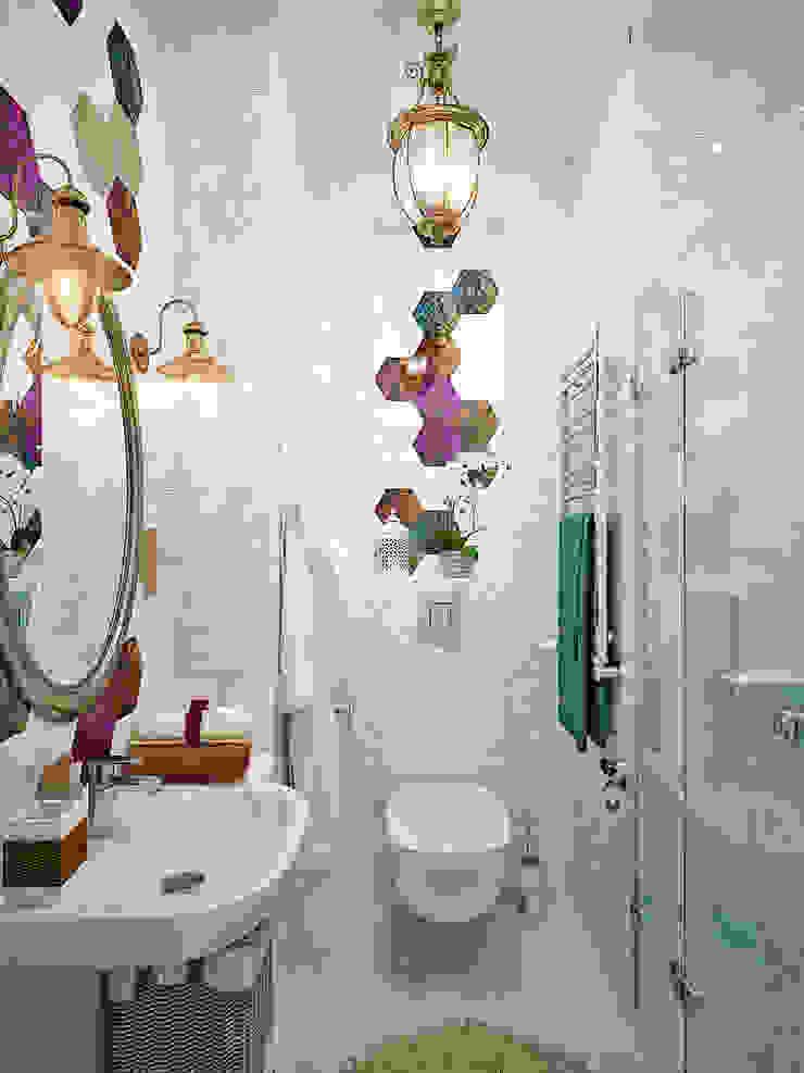 Пэтч ворк плитка для интерьера ванной Ванная комната в стиле модерн от Студия дизайна Interior Design IDEAS Модерн