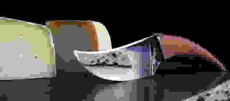 Couteau à fromage Laguiole en Aubrac par Auzier design studio Méditerranéen Métal