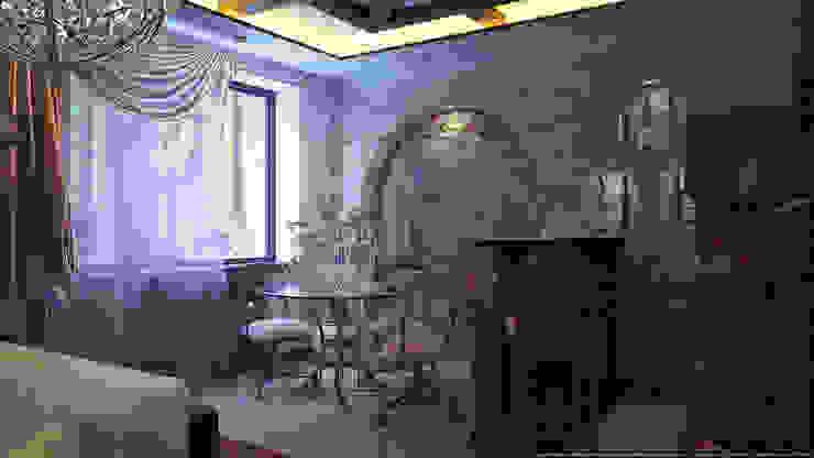 Зал средиземноморский стиль Терраса в колониальном стиле от Architoria 3D Колониальный Известняк