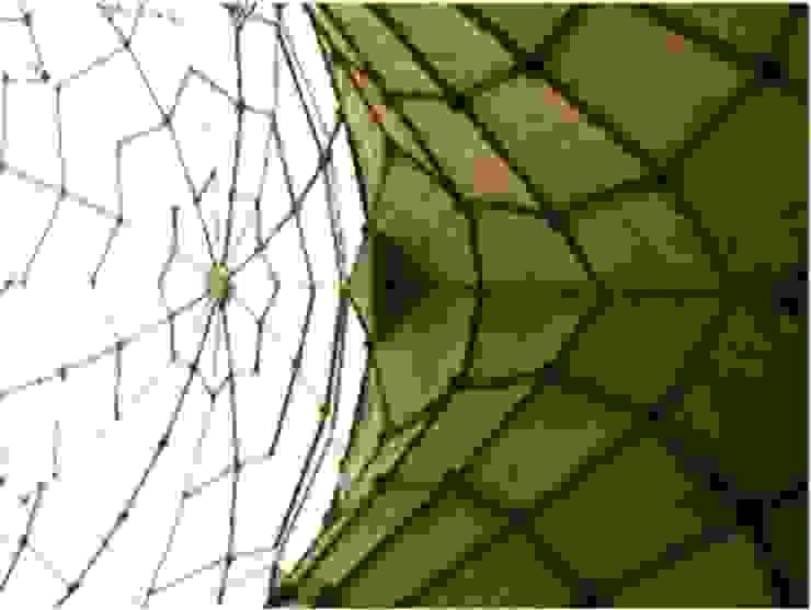 Cerchas tierra-tezontle-cemento Centros de exposiciones de estilo moderno de InSitu Moderno