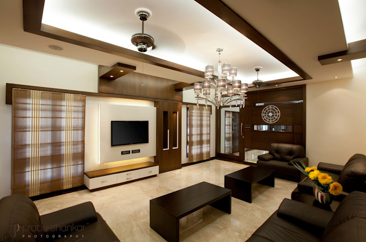 Residential Modern living room by Prabu Shankar Photography Modern
