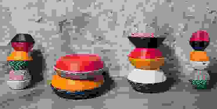 Jinja Bowls Collection por Jinja Moderno Têxtil Ambar/dourado