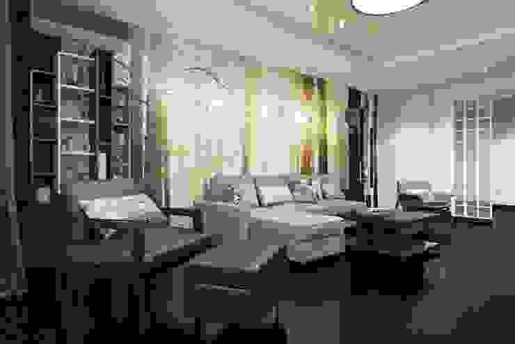 ЗОНА ОТДЫХА Гостиная в стиле минимализм от Дизайн студия Алёны Чекалиной Минимализм