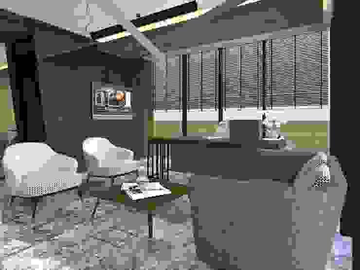 ÖZYAPIT MÜHENDİSLİK İDARİ BİNA Modern Çalışma Odası ARGE Dekor & İç Mimari Modern