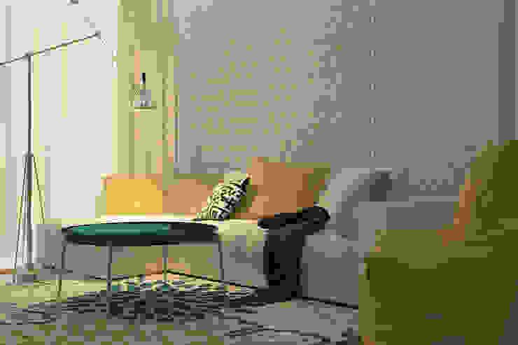 Деликатный латте_гостиная в современном стиле Гостиная в стиле минимализм от CO:interior Минимализм