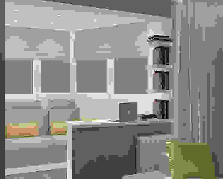 Деликатный латте_кабинет в современном стиле Балкон и терраса в стиле минимализм от CO:interior Минимализм