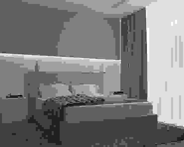Деликатный латте_спальня в современном стиле Спальня в стиле минимализм от CO:interior Минимализм