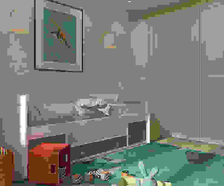 Деликатный латте_детская в современном стиле Детская комнатa в стиле минимализм от CO:interior Минимализм