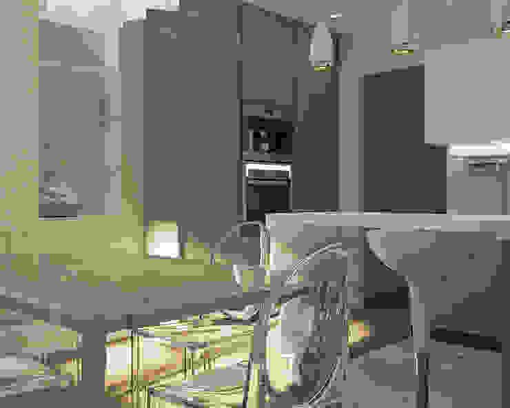 Деликатный латте_кухня в современном стиле Кухня в стиле минимализм от CO:interior Минимализм