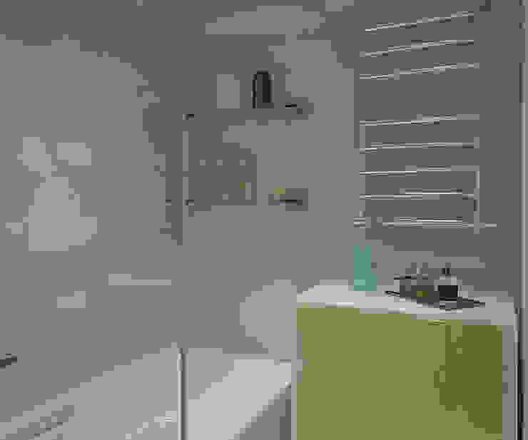 Деликатный латте_ванная в современном стиле Ванная комната в стиле минимализм от CO:interior Минимализм