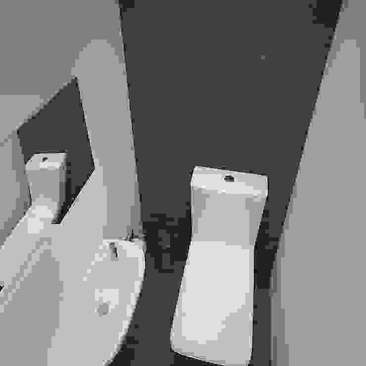 Деликатный латте_санузел в современном стиле Ванная комната в стиле минимализм от CO:interior Минимализм