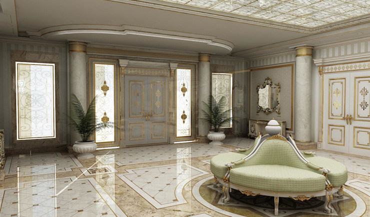 Residance VIP Klasik Koridor, Hol & Merdivenler HİSARİ DESIGN STUDIO Klasik