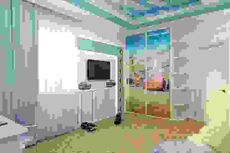 """Детская """"Формула"""" Детские комната в эклектичном стиле от Цунёв_Дизайн. Студия интерьерных решений. Эклектичный"""