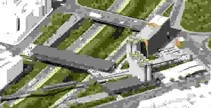 Biblioteca CBA Estudios y oficinas industriales de MV Industrial Metal