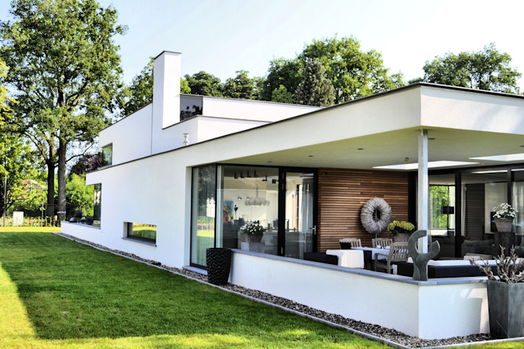 Houses by FWP architectuur BV, Minimalist Concrete
