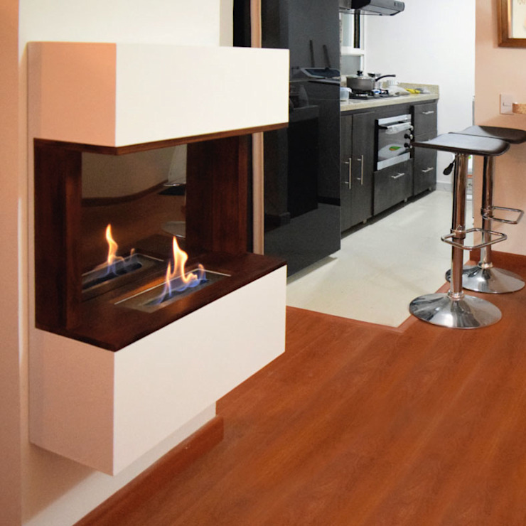 modern  by Origen chimeneas, Modern Wood Wood effect