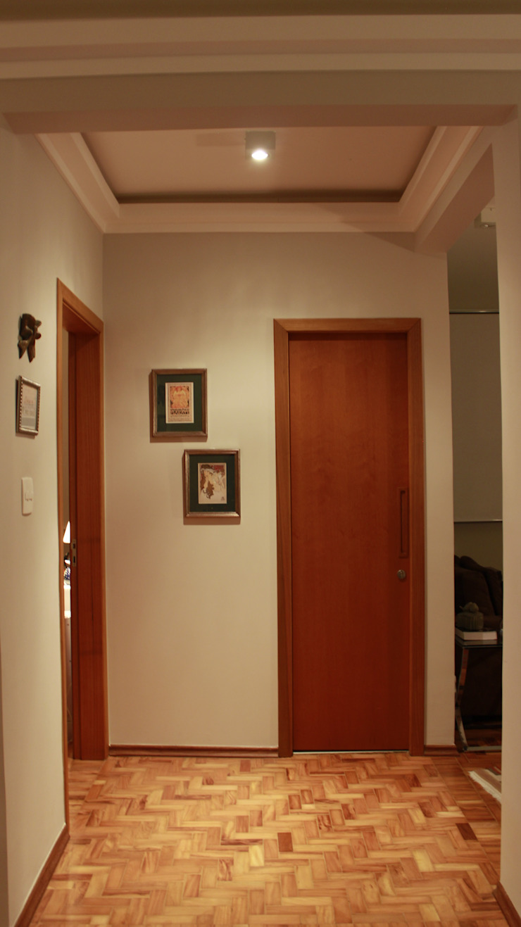 Residencial Paraíso Corredores, halls e escadas ecléticos por Rentes Arquitetura e Interiores Eclético
