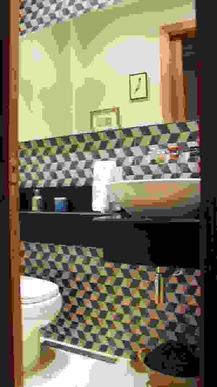 Residencial Paraíso Banheiros ecléticos por Rentes Arquitetura e Interiores Eclético