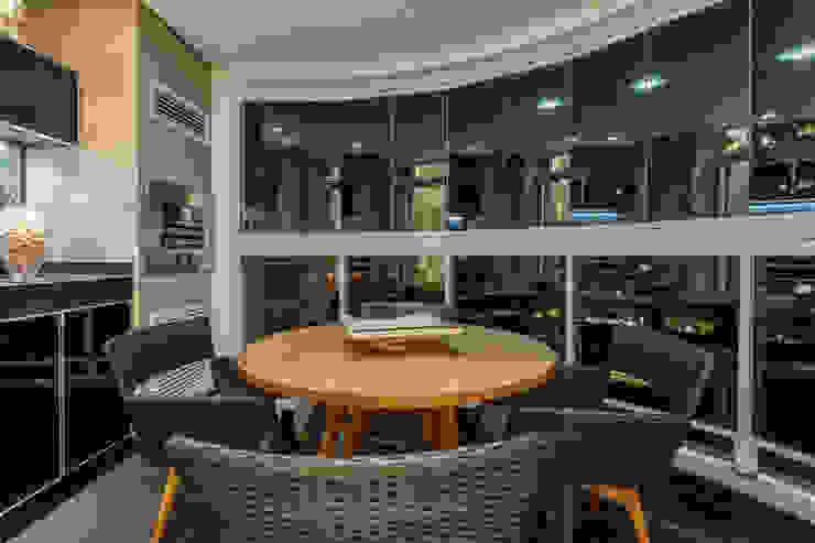 Apartamento Alphavile Varandas, alpendres e terraços modernos por Morávia - Arquitetura e Interiores Moderno