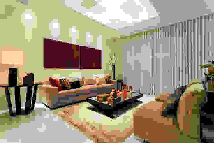 Apartamento Lourdes Salas de estar modernas por Morávia - Arquitetura e Interiores Moderno